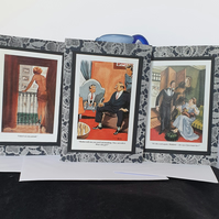 BBC 003 Set of 3 Hand Decorated Cards
