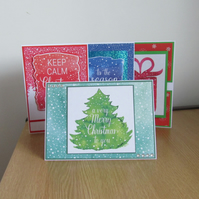 BB Xmas 016 Set of 4 Hand Decorated Christmas Cards