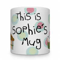 Personalised Little Girl Mug. Children's Mugs. Mugs For Kids.