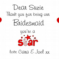 Personalised Bridesmaids Gift