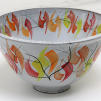Autumn serving bowl