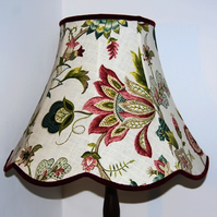Florie Scalloped Fabric Lampshade
