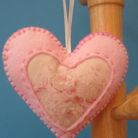 Vintage Style Hanging Heart Decoration