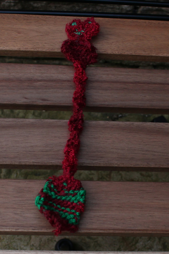 Cat lovers handmade knitted bookmark