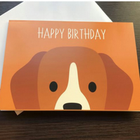 Colourful Dog Greetings Card