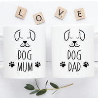 Dog Mum and Dog Dad  Mug Set