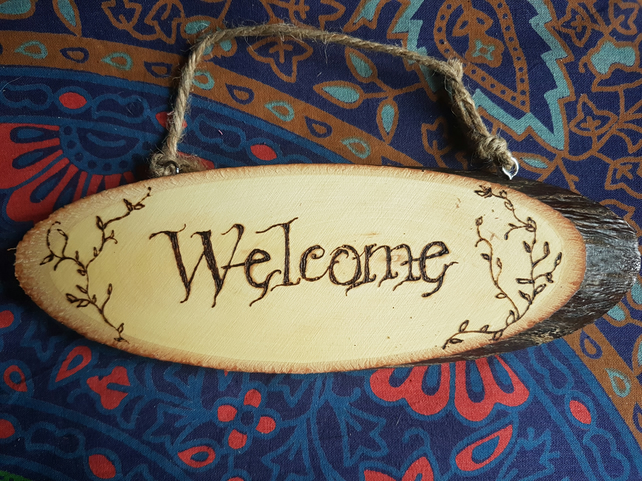 Whimsical Welcome Sign