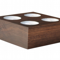 Walnut Candle Holder for 4 Tea Light Candles
