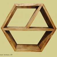 Large Hexagon shelf,honeycomb shelf, honeycomb shelves, floating hexagon shelf,