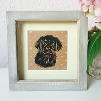 Tiny Puppy Framed Print