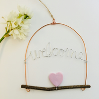 Welcome Heart Hanging Decoration