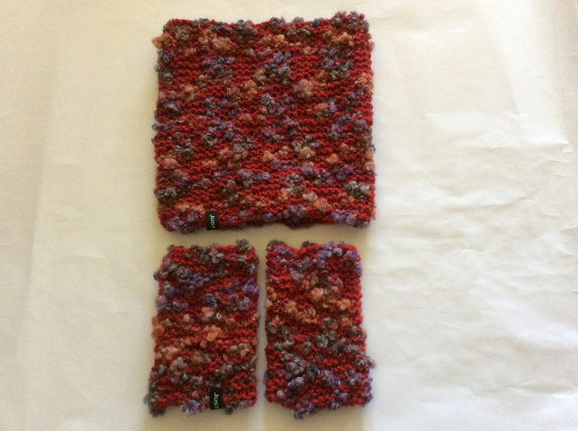 Ladies neck and wrist warmers