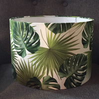 Handmade lampshade monstera palm leaf 30cm - Made to order