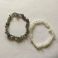 Pk 2 Gem Stone Nugget Elasticated Bracelets