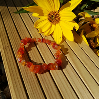 Red Agate Gemstone Bracelet