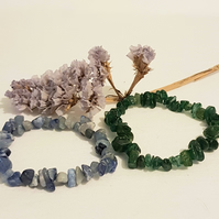 Aventurine Delight pk 2 Stretch Nugget Bracelets