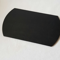 Black Silk Pillow Box
