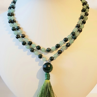 Kiwi Delight Mala Necklace