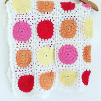 Circle in a Square Crochet Blanket