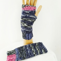 Fingerless Crochet Mittens