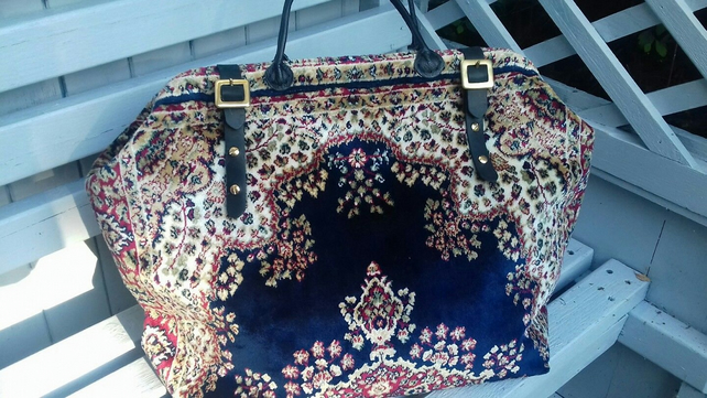 Plush Carpet Bag or Mary Poppins Bag - Made to Order