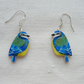 Blue tit earrings