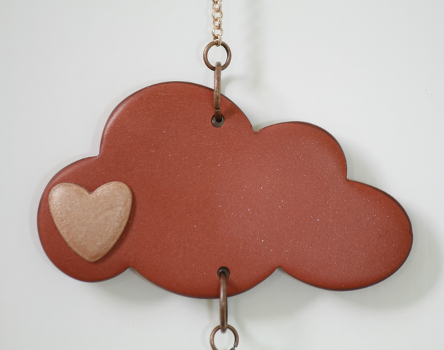 Rose Gold and Copper Cloud Mobile Strand
