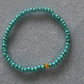 Handcrafted Glass Seed Beads Elastic Bracelet Metallic Sea Green - FREE P&P
