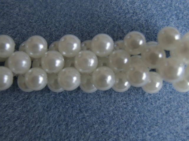 Handcrafted Acrylic Pearl Elastic Bracelet