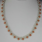 "21"" 52cm Peru Gold & Ivory Glass Pearl Necklaces Lobster Clasp 5cm 2"" Ext. Chain"