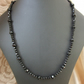 "65.5cm 25.5"" Long - Black Faceted Glass Crystal Necklace (Imitation Spinel)"