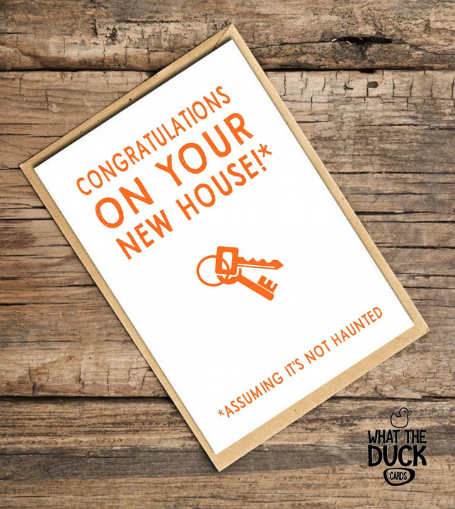 'Haunt' New Home Card, House Warming, What The Duck Cards, Funny Card, Rude Card