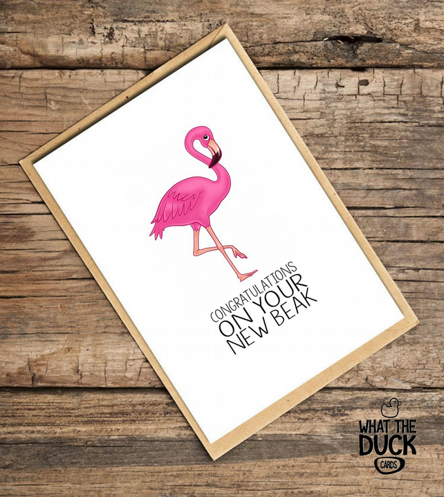'Beak' Nose Job Card, New Nose Card, What The Duck Cards, Funny Card, Rude Card