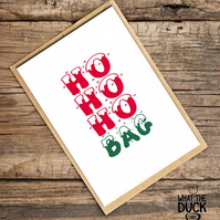 'Hobag' Christmas Card, Xmas Card, What The Duck Cards, Fun Card, Rude Card