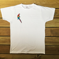 Parrot Embroidered T-Shirt (Male & Female)