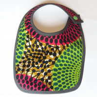Dribble & Feeding Bib Homemade with African Fabric.