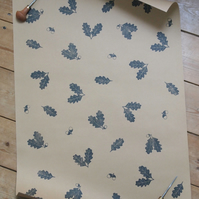 Oak Leaf And Acorn Wrapping Paper