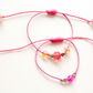 1 Pair of Unisex Wax Cord Stacking Bracelets - Sliding Knot Close - All colours