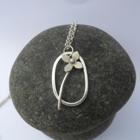 Little Lilac Flower Necklace