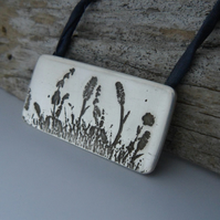 Photo Etched Meadow Pendant