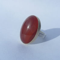 Carnelian Stone Set Statement Ring