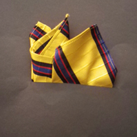 Woven silk pocket square