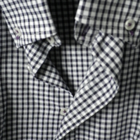 Black & white gingham casual shirt