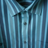 Aquamarine striped casual shirt