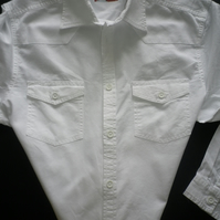 Arctic white Western casual shirt