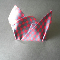 Navy red pure silk pocket square