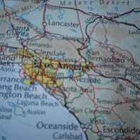 Los Angeles, World City Maps, printed on recycled cotton rag, lovely gift..