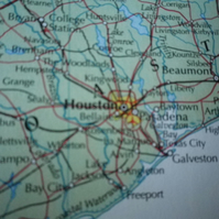 Houston, World City Maps, printed on recycled cotton rag, lovely gift...........