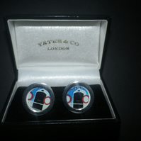 Vintage Peugeuot cuff links, really special gift for that special someone