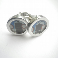 Vintage Peugeuot cuff links, really special gift , free UK shipping..